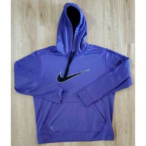 Nike Mens Therma-Fit Purple Hoodie Size Large